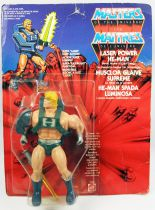 Masters of the Universe - Laser Power He-Man / Musclor Glaive Suprême (carte Europe)
