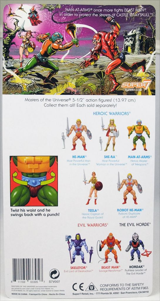 Masters of the Universe - Man-At-Arms (Filmation New Vintage) - Super7
