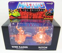 Masters of the Universe - M.U.S.C.L.E. Wind Raider & Roton (orange) - Super7