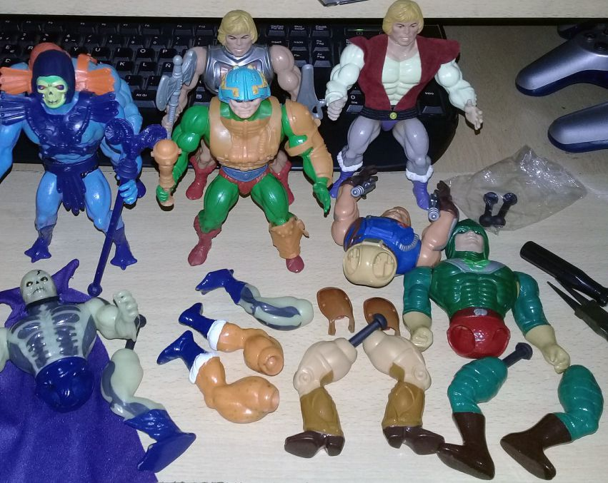 Masters of the Universe - Rama - Pack of 10 legs connectors for vintage Mattel figures
