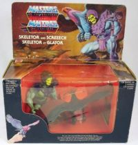 Masters of the Universe - Skeletor & Screeech / Glator \'\'gift-set\'\' (boite Europe)