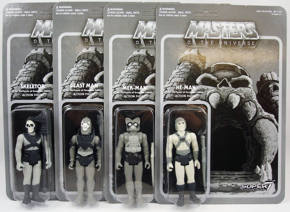 Masters of the Universe ReAction Super7 3.75 Action Figures Set of 8 He-Man MOTU