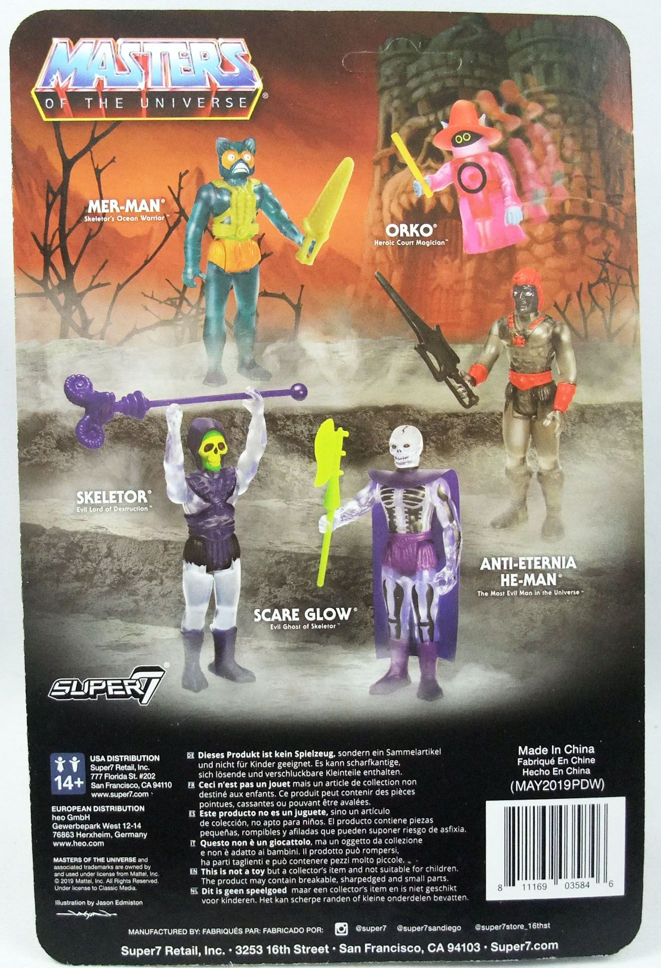 """Masters of the Universe - Super7 action-figure - Anti-Eternia He-Man \""""clear\"""""""