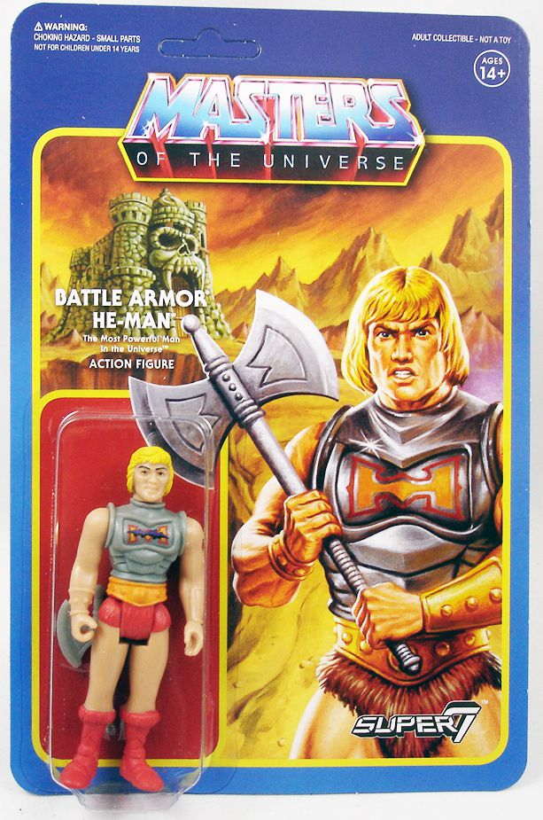 """Masters of the Universe - Super7 action-figure - Battle Armor He-Man \""""damaged variant\"""""""