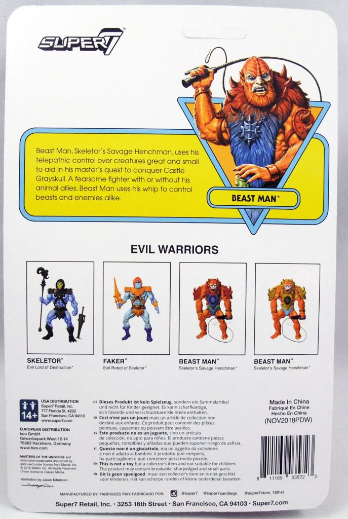 "Masters of the Universe - Super7 action-figure - Beast Man ""LEO toy colors\"""