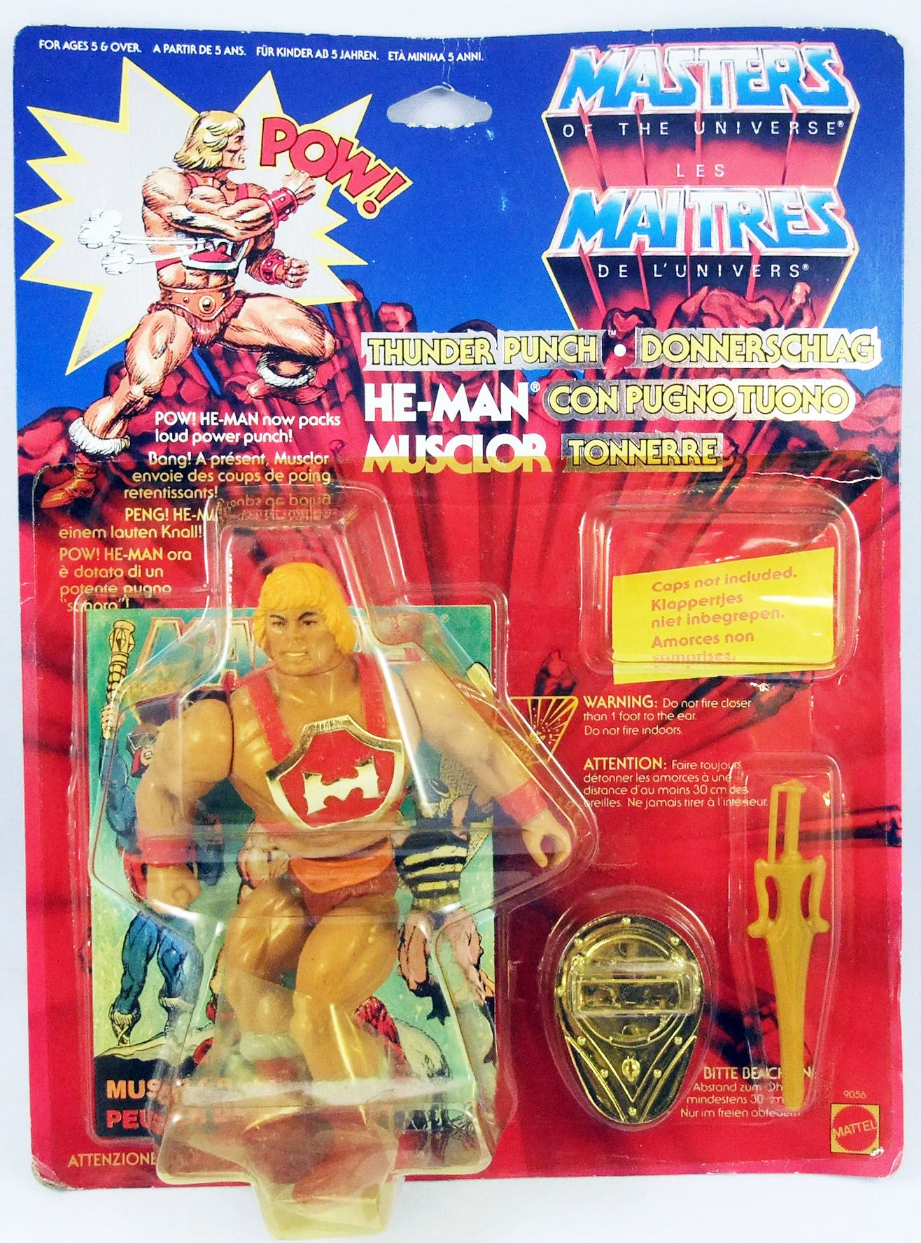 Masters of the Universe - Thunder Punch He-Man / Musclor Tonnerre (carte Europe)