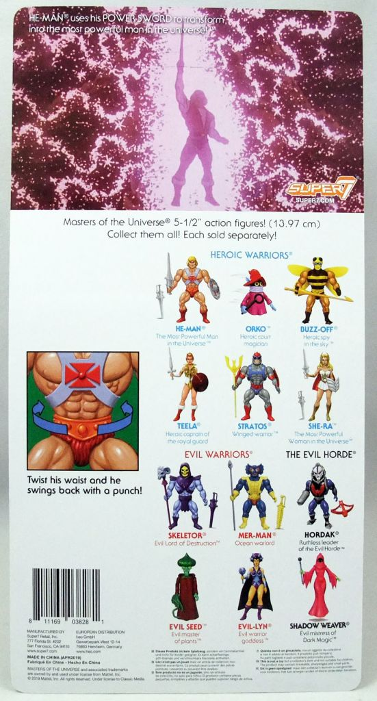 Masters of the Universe - Transforming He-Man (Filmation New Vintage) - Super7