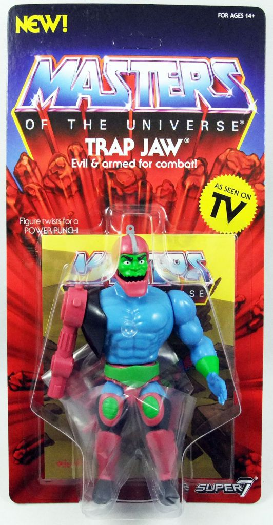 Motu Super7 Trap Jaw Masters of the Universe Vintage Collection Action Figure