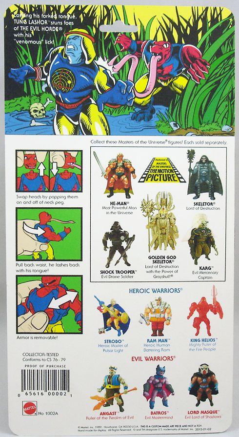 "Masters of the Universe - Tung Lashor / Venimor \""regular head\"" (carte USA) - Barbarossa Art"