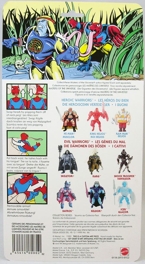 "Masters of the Universe - Tung Lashor ""variant head\"" (Europe card) - Barbarossa Art"