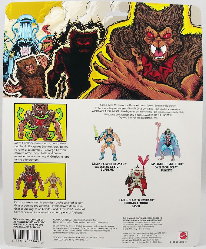 "Masters of the Universe - Unleashed Grizzlor Déchainé \""black\"" (carte USA) - Barbarossa Art"