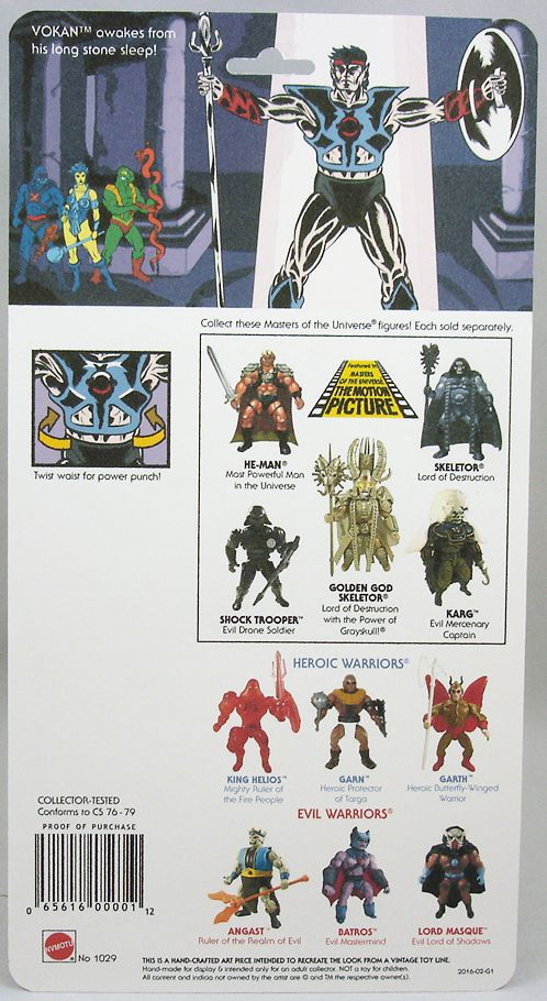 Masters of the Universe - Vokan (USA card) - Barbarossa Art