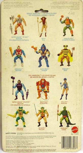 Masters of the Universe - Weapons Pack (Europe card)