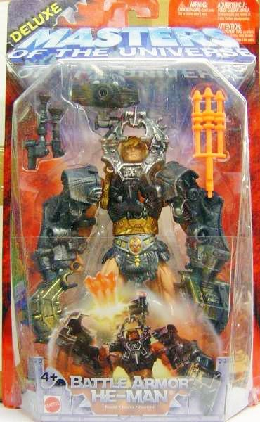 """Masters of the Universe Deluxe 200x /""""Battle Armor He-man Masters of the Universe"""