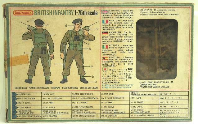 Matchbox figures 76° WW2 British Infantry mint in box
