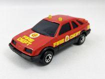 "Matchbox Sonic Flashers (1985) - Ford Sierra XR4i \""Fire Dept\"""