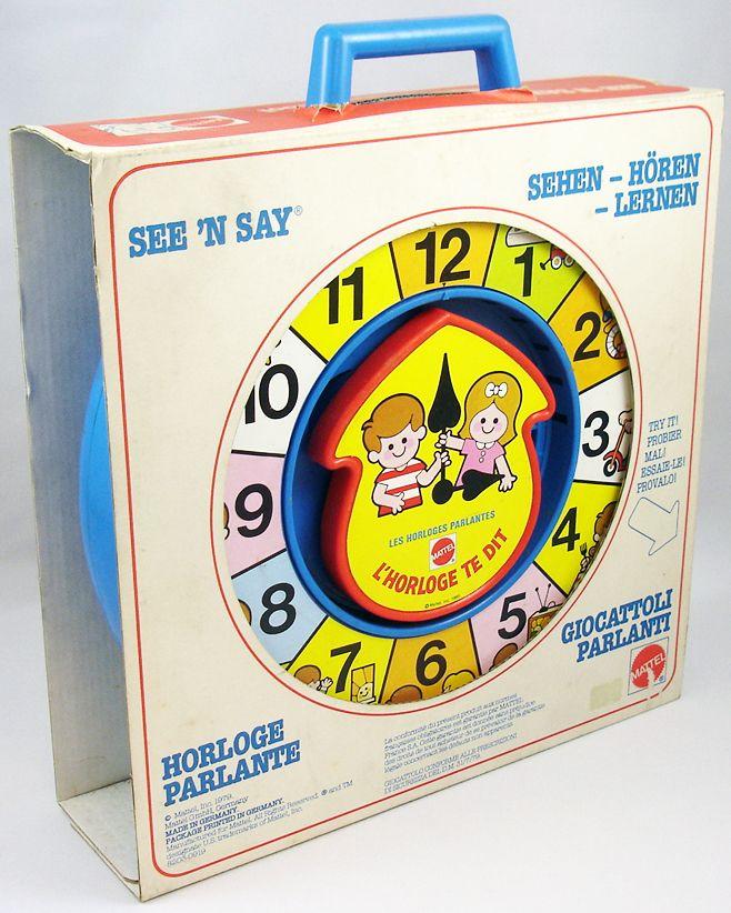 Mattel Preschool 1979 - Horloge Parlante See\'n Say L\'horloge te dit (1)