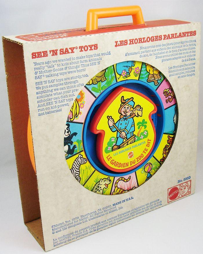 Mattel Preschool 1979 - Horloge Parlante See\'n Say Le gardien du zoo te dit (1)