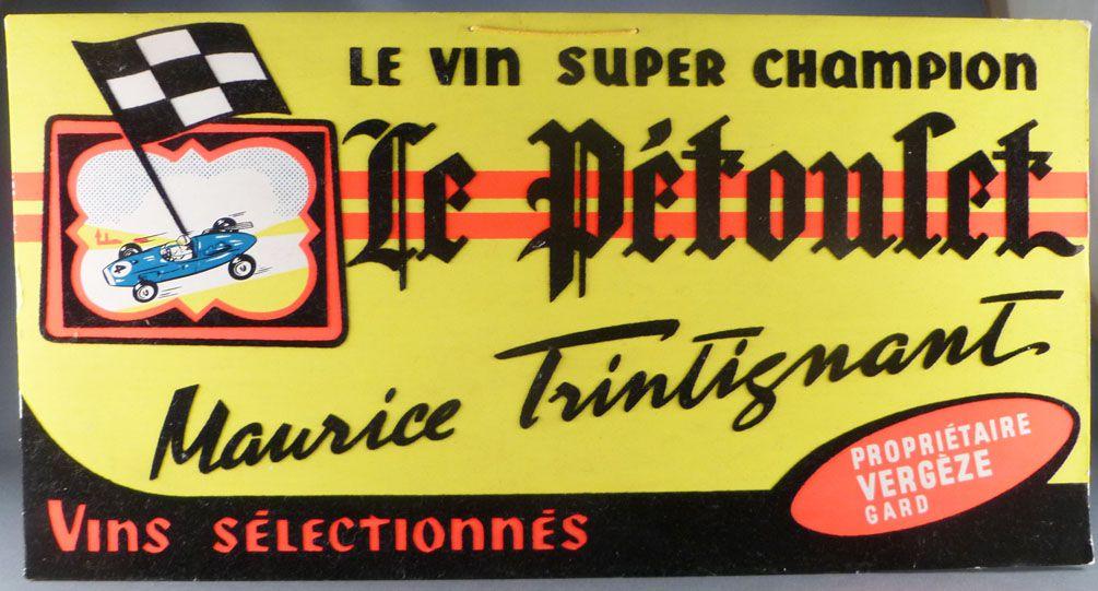 Plv Auto Des Champions Maurice Trintignant Pétoulet Le Vin Course AjR534Lq