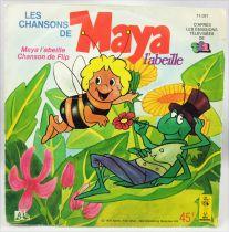 Maya l\'abeille -  Disque 45T - Les Chansons de Maya - Adès/Le Petit Menestrel 1978
