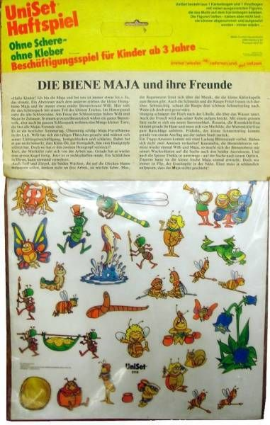 Maya the Bee - Decals with decoration board - Mint in baggie