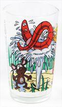 Maya the Bee - Mustard glass - Maya, Willi, Alexander the Great & Max the earthworm