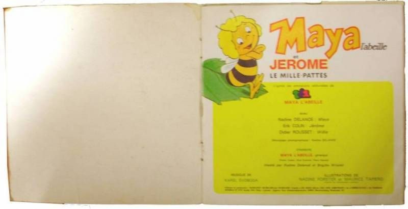 Maya the Bee - Story & Music 45s - Maya & Jerome the centipede