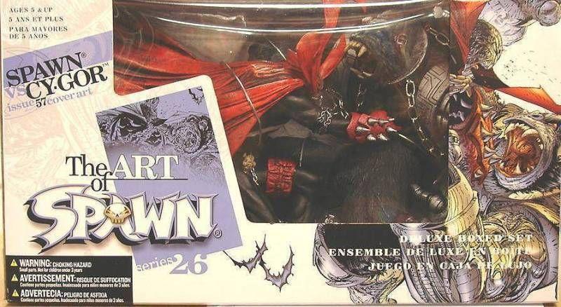 McFarlane's Spawn - Series 26 (The Art of Spawn) - Spawn vs  Cy-Gorr issue  57