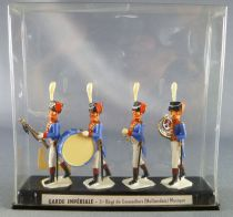 MDM - 40mm - Napoleonic - Imperial Guard - 3th Grenadiers Reg( Dutch) - Band Marching 4 pack Mint in Box