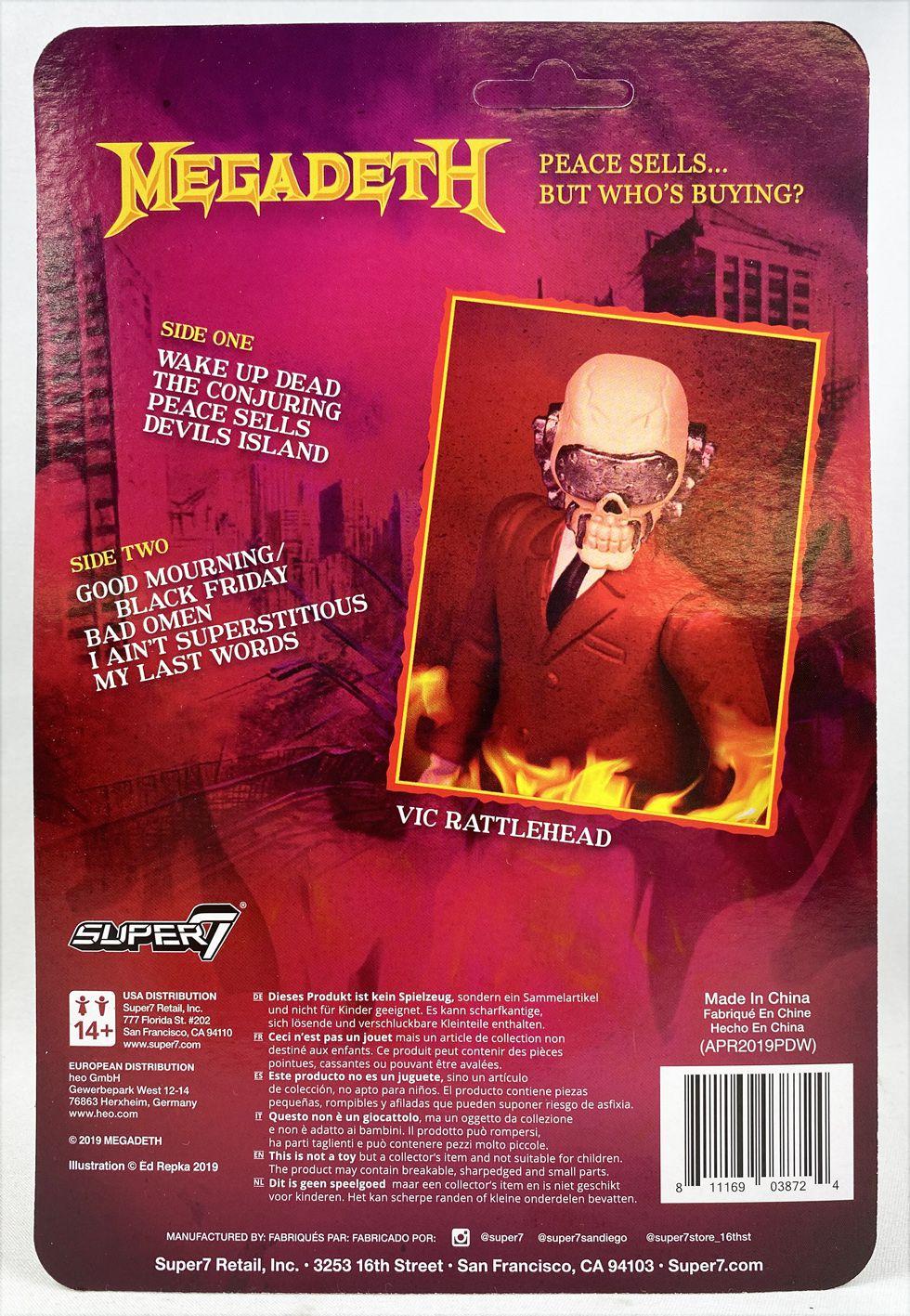 Megadeath- Figurine ReAction Super7 - Vic Rattlehead