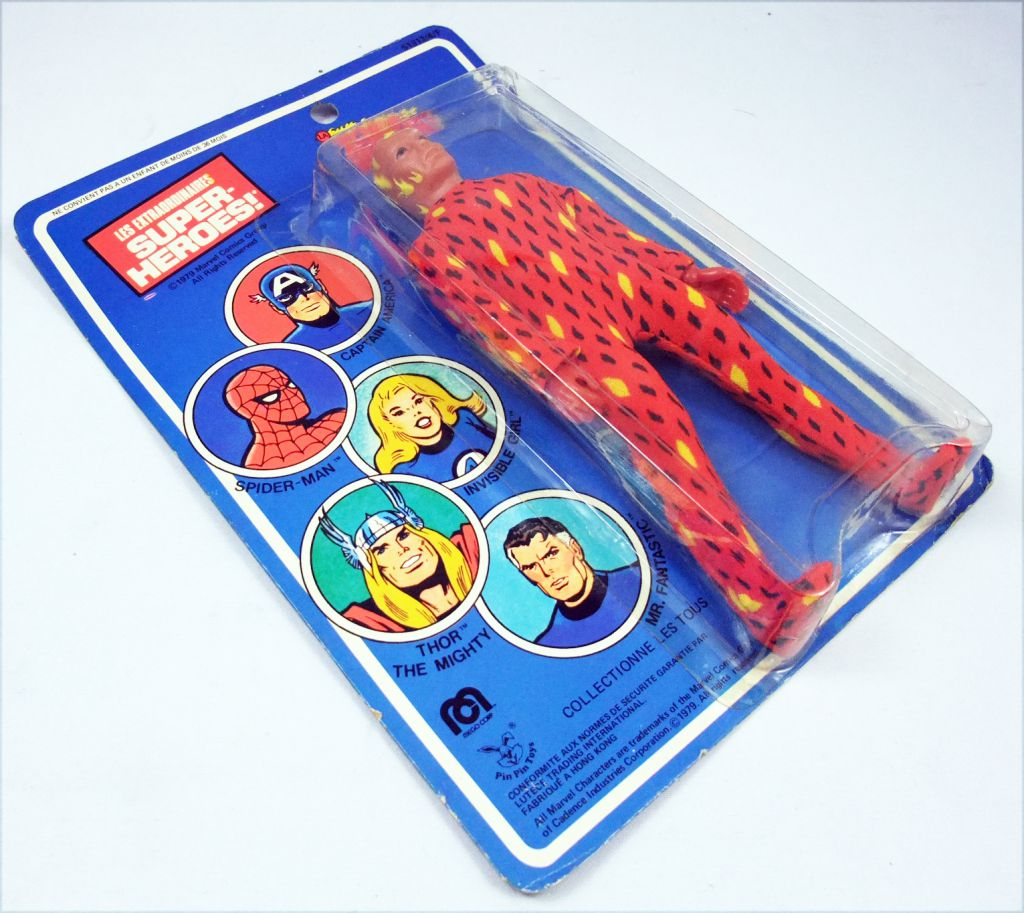 Mego World\'s Greatest Super-Heroes - Human Torch (La Torche Humaine) -  neuf sous blister Pin Pin Toys