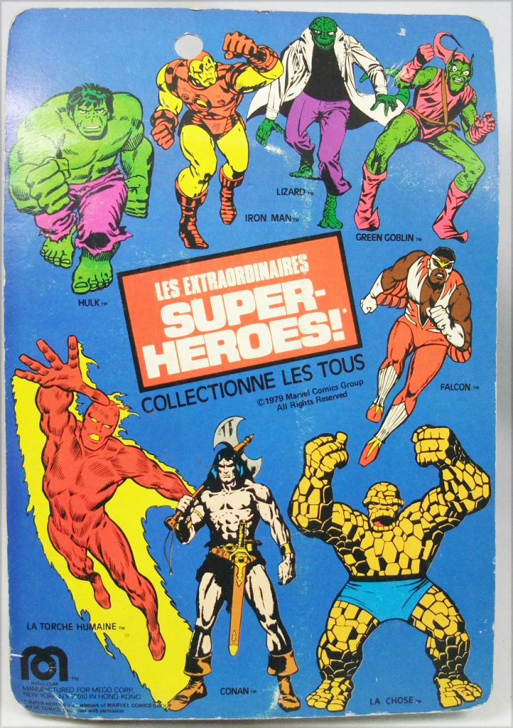 Mego World\'s Greatest Super-Heroes - Human Torch (mint on Pin Pin Toys card)