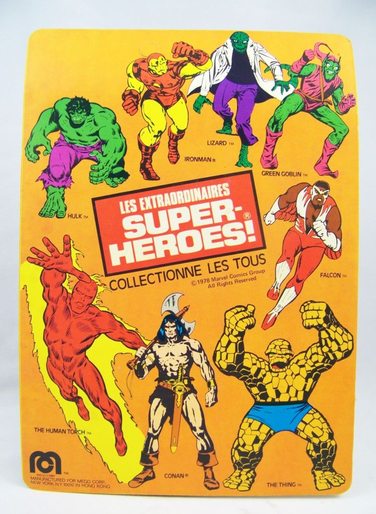 Mego World\'s Greatest Super-Heroes - Spider-Man - neuf sous blister Pin Pin Toys 02