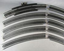 Mehano Ho 10 Courbes Rails Acier R 18° dont 1 Alimentation Auto-enrailleur