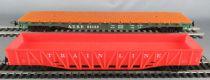Mehano Ho Usa 2 Wagons 1 Plat  Atsf  94138 + 1 Tombereau Train Line