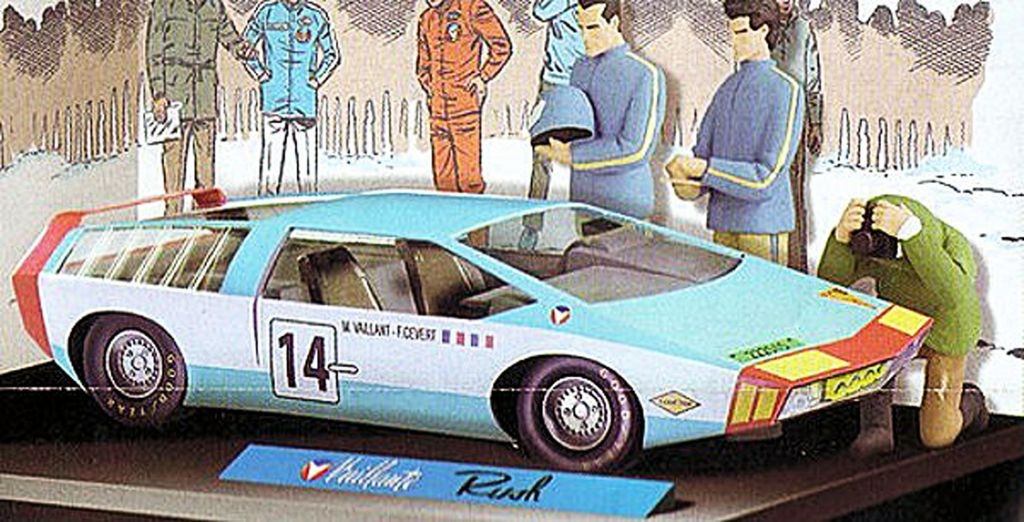 Michel Vaillant - Prototype Editions Atlas - Vaillante Rush (43cm) + 2 Personnages (23cm)