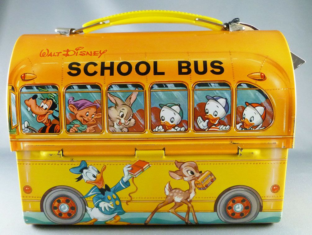Mickey & Friends - Aladdin Lunch Box - School Bus with original tag
