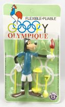 Mickey and friends - Brabo Bendable Figure - Goofy in Olympic Games (mint on card)