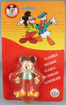 Mickey and friends - Brabo Bendable Figure - Mickey Blue Top Mint on Card