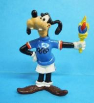 Mickey and friends - Bully 1980 PVC Figure - Goofy carrier of the Olympic torch