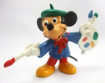 Mickey and friends - Bully 1985 PVC Figure - Mickey Painter