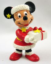 Mickey and friends - Bully 1985 PVC Figure - Minnie Mouse as Santa