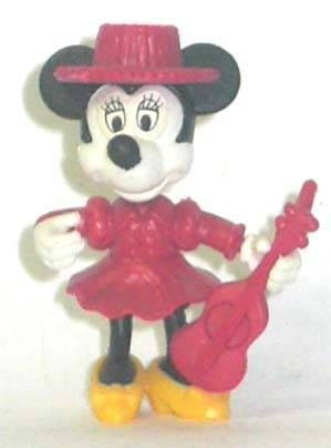 Mickey and friends - Kinder Premium Collapsible Plastic Figure - Minnie guitar