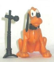 Mickey and friends - Kinder Premium Collapsible Plastic Figure - Pluto seated with micro