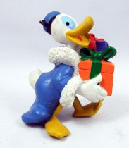 Mickey and friends - M+B Maia Borges PVC Figure 1983 - Christmas Season Donald Duck