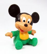 Mickey and friends - M+B Maia Borges PVC Figure 1985 - Disney Babies Mickey Mouse (green romper)