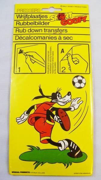 Mickey and friends - Pressers Rub-Down Transferts - Sport Goofy #2