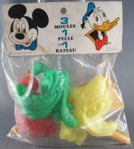 Mickey and friends - Sitap 54-6310 Vintage Beach Set - Sand Molds Mickey Donal Pluto Shovel Rake