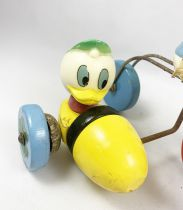 Mickey and friends - Wooden Pull-up Toy - Donald Duck and Huey in Sidecar (Vilac)
