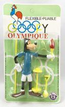 Mickey et ses amis - Figurine Flexible Brabo - Dingo aux Jeux Olympiques (neuf sous blister)